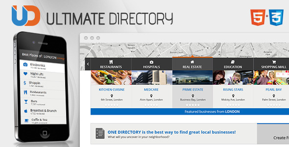 Directory - Responsive Site Template  - Miscellaneous Site Templates