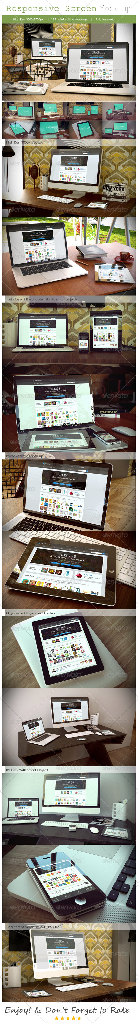 Responsive Device Mockup - Multiple Displays