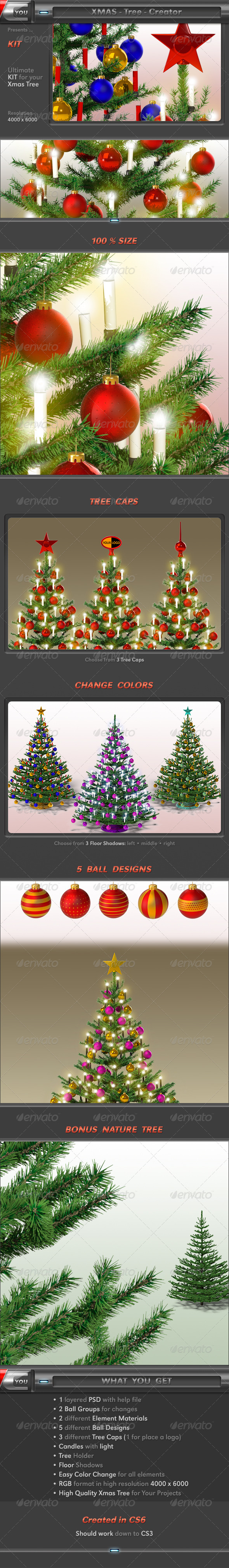 Xmas Tree Creator - Objects 3D Renders