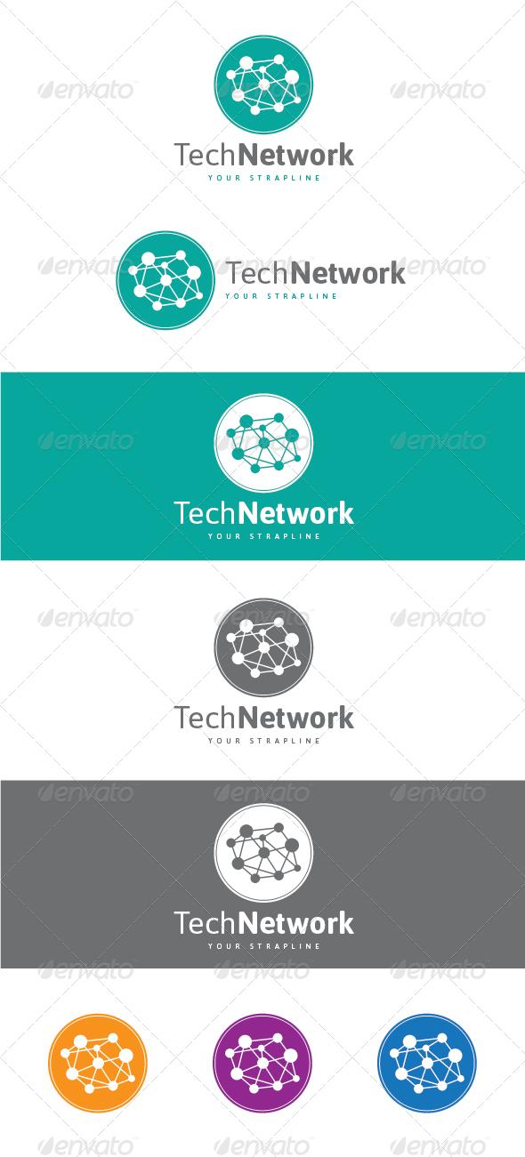 Tech Network Logo By Creativebeat Graphicriver