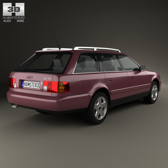 audi a6 c4 avant 1994 by humster3d 3docean. Black Bedroom Furniture Sets. Home Design Ideas