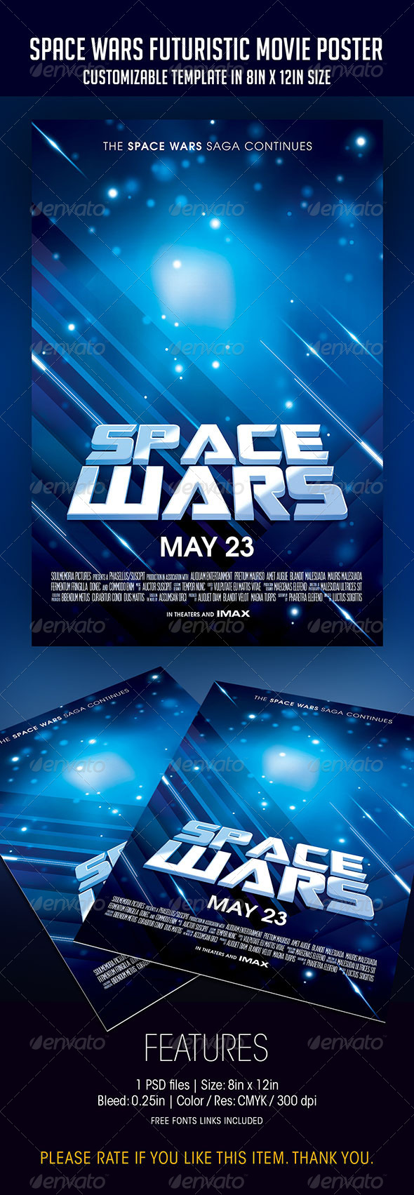 Space wars futuristic movie poster by soulmemoria graphicriver space wars futuristic movie poster flyers print templates pronofoot35fo Image collections
