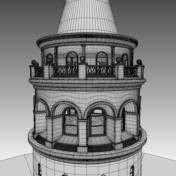 galata kulesi (galata tower) - 3DOcean Item for Sale