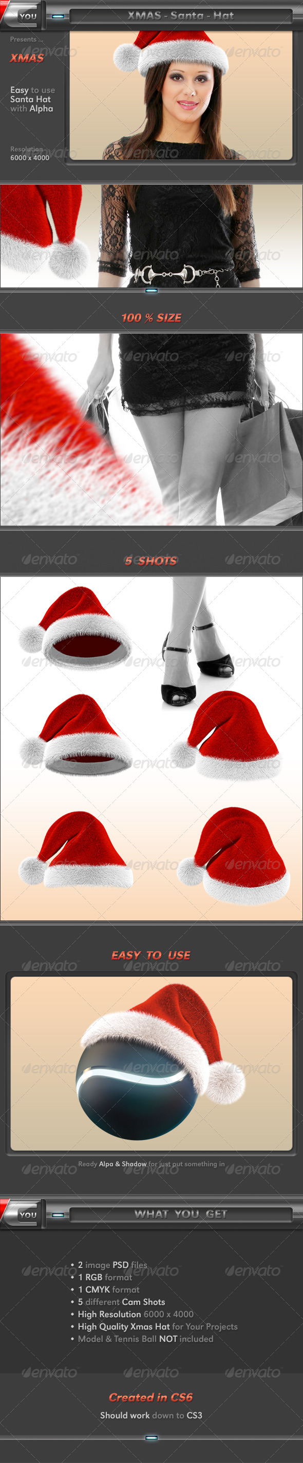 Xmas Santa Hat - Objects 3D Renders
