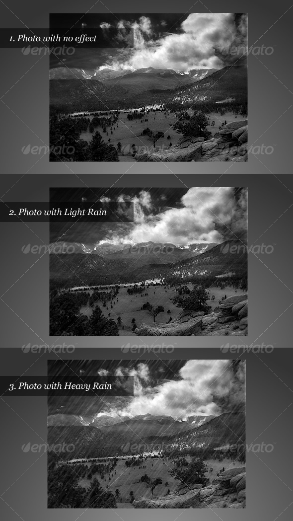Realistic Rain Effect - Nature Backgrounds