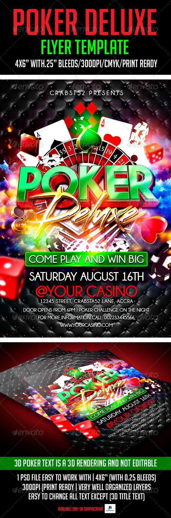 Poker Deluxe Flyer Template