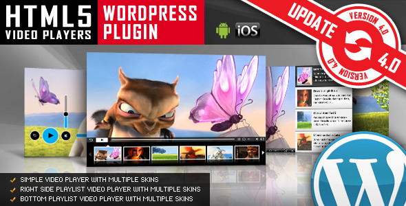 HTML5 Video Player WordPress Plugin - CodeCanyon Item for Sale
