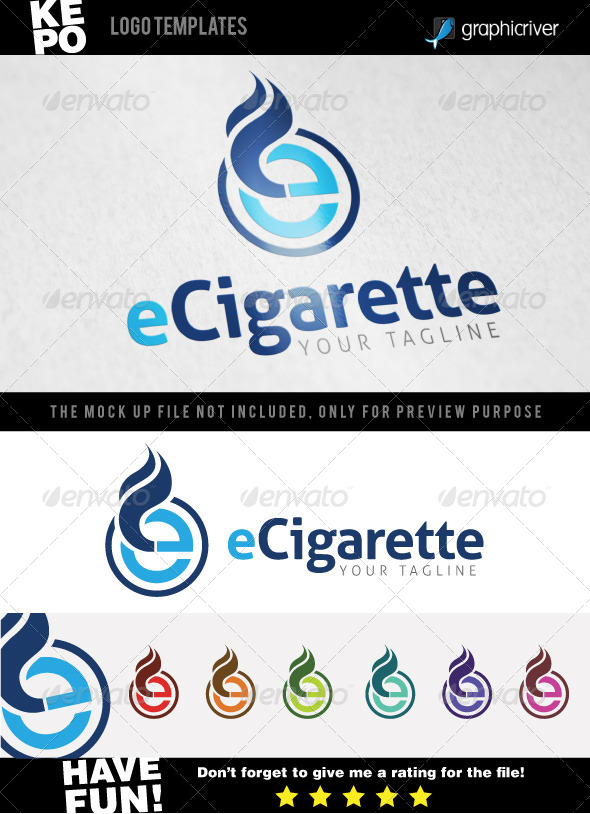 ecigarette logo templates by redmoodstudio graphicriver