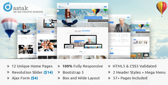 Dastak – Multipurpose Business HTML Web Template