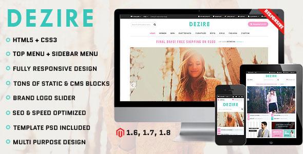 Dezire – Premium Responsive Magento Theme