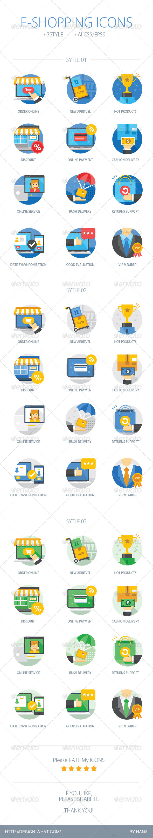 E-Shopping Icons - Web Icons
