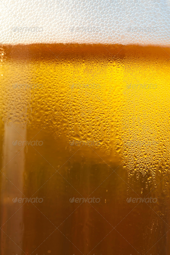 Draft Beer in a Glass Mug - Stock Photo - Images
