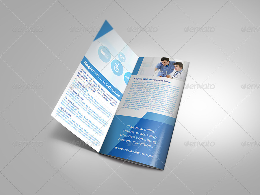 Hospital tri fold brochure template vol 2 by owpictures for Hospital menu template