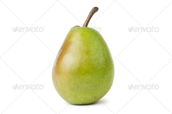 Fresh Juicy Pear Isolated Over White Background - Stock Photo - Images
