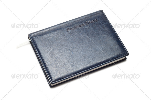 Business Diary Isolated Over White Background - Stock Photo - Images