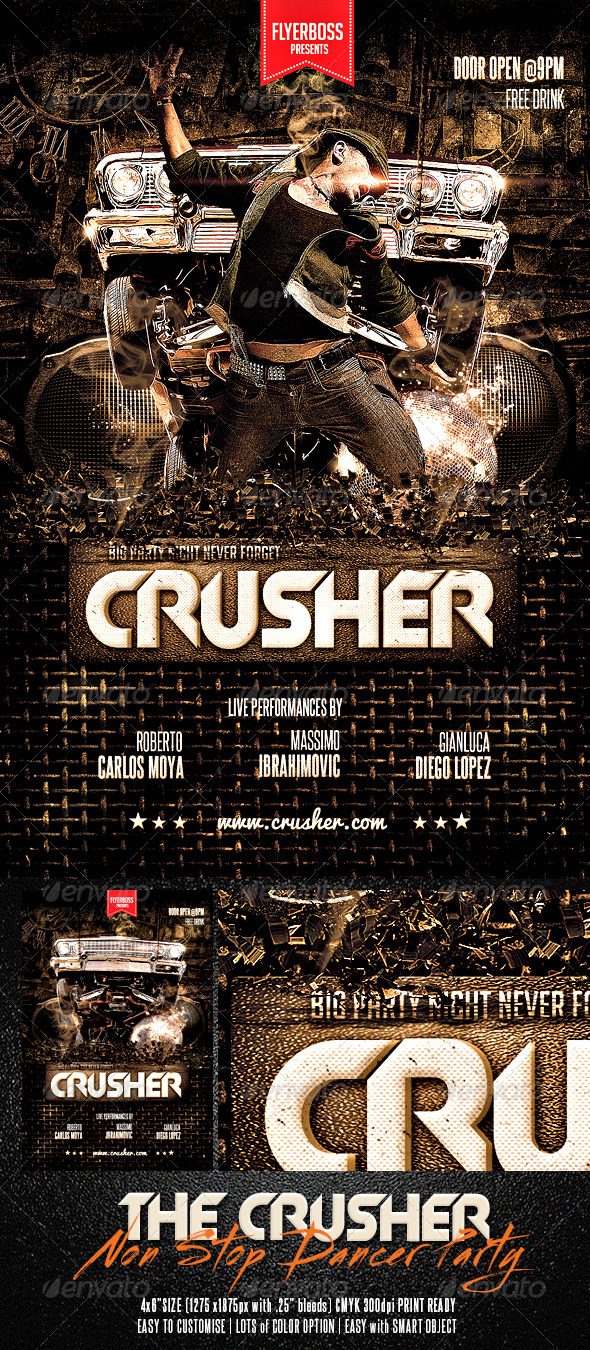 The Crusher Flyer - Events Flyers