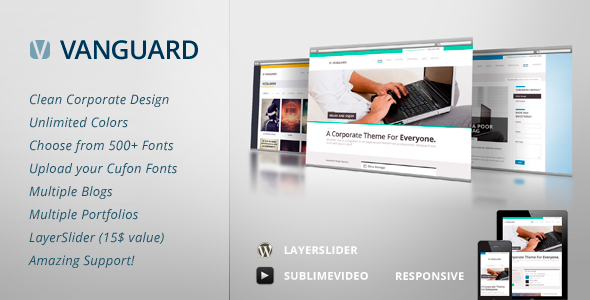 Vanguard: Business & Portfolio WordPress Theme - Corporate WordPress