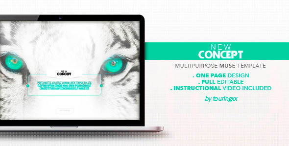New Concept Multipurpose One Page Muse Theme - Muse Templates
