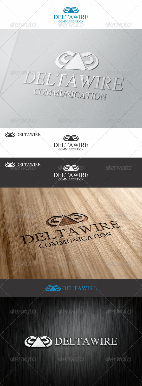 Delta Wire Communication Logo - Abstract Logo Templates
