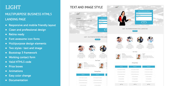 Light – Multipurpose Business Landing Page