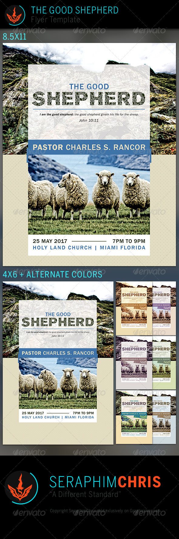The Good Shepherd: Church Flyer Template - Church Flyers