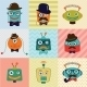 Hipster Vintage Fashion Robots - GraphicRiver Item for Sale