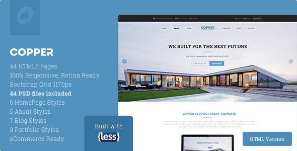 Copper – Multipurpose Responsive HTML5 Template