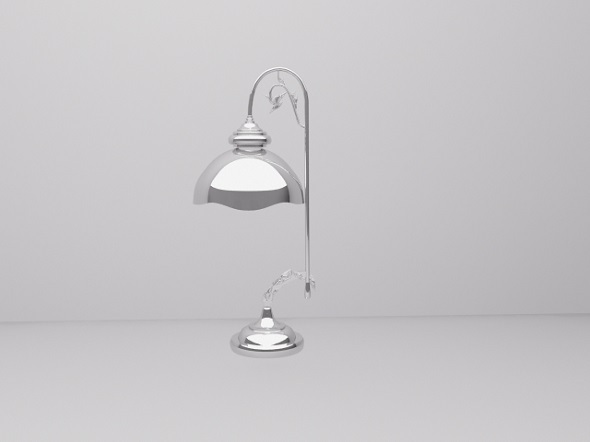 Chrome lamp - 3DOcean Item for Sale