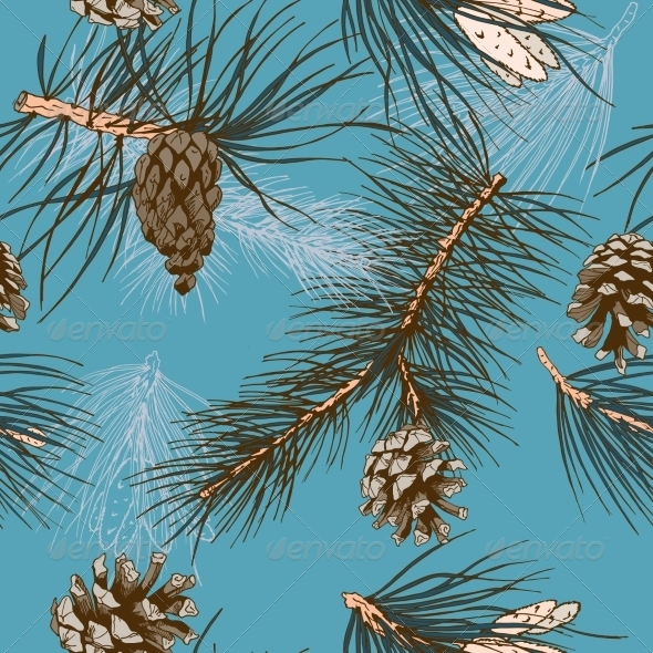 Pine Branches Pattern - Flowers & Plants Nature