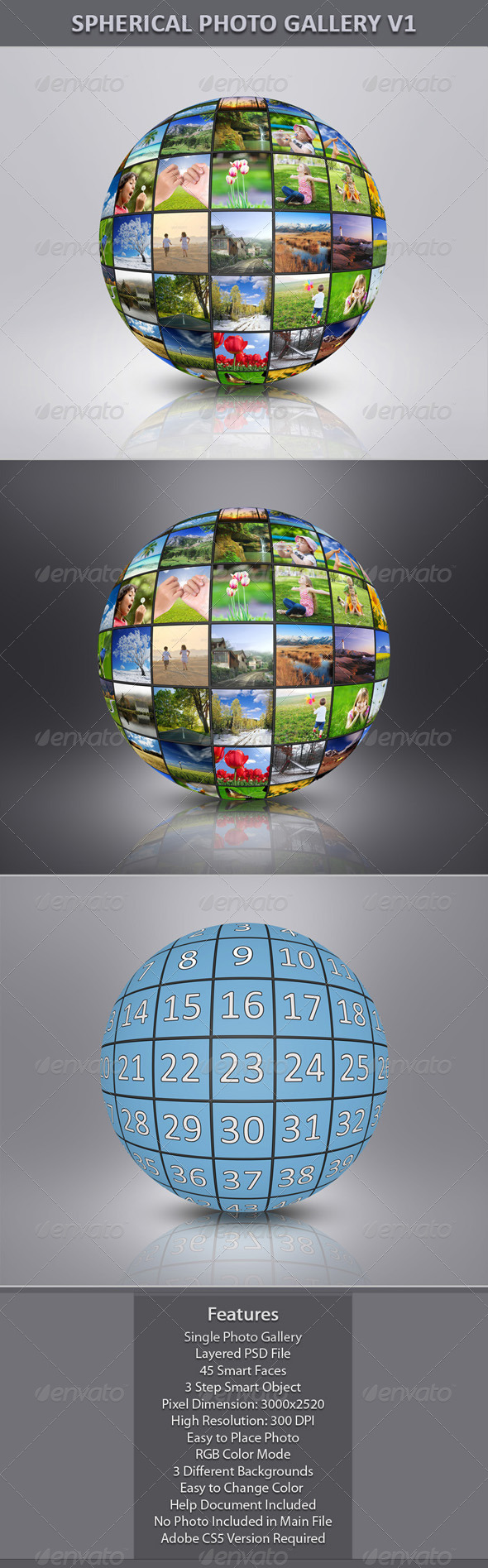 Spherical Photo Gallery V1 - Miscellaneous Photo Templates