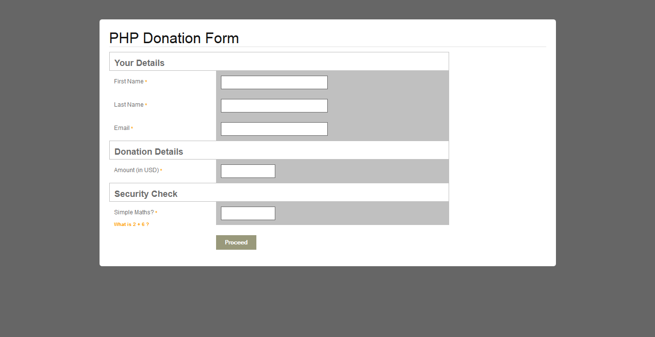 Donation Form / PHP / PayPal / Advanced Reporting by pluginpunch ...