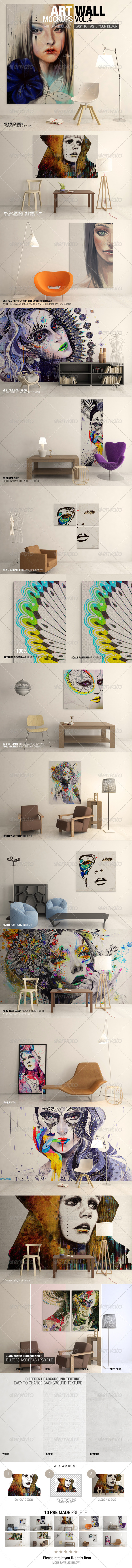 Art Wall Mockups Vol.4 - Miscellaneous Displays