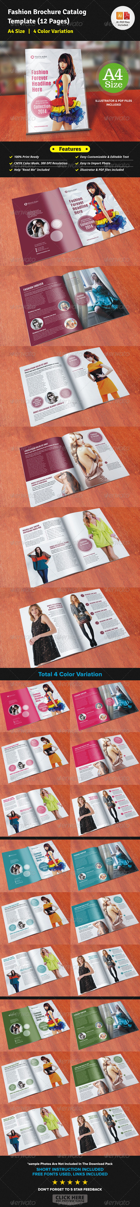 Fashion Brochure Catalog (12 Pages) - Corporate Brochures