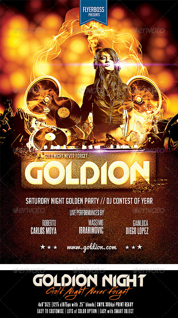 Goldion Night - Events Flyers