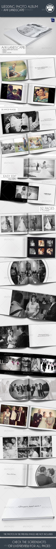 Wedding Photo Album A4 Landscape - Photo Albums Print Templates
