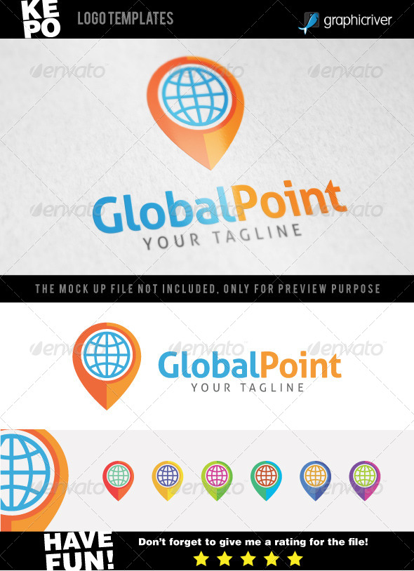 Global Point Logo templates - Objects Logo Templates