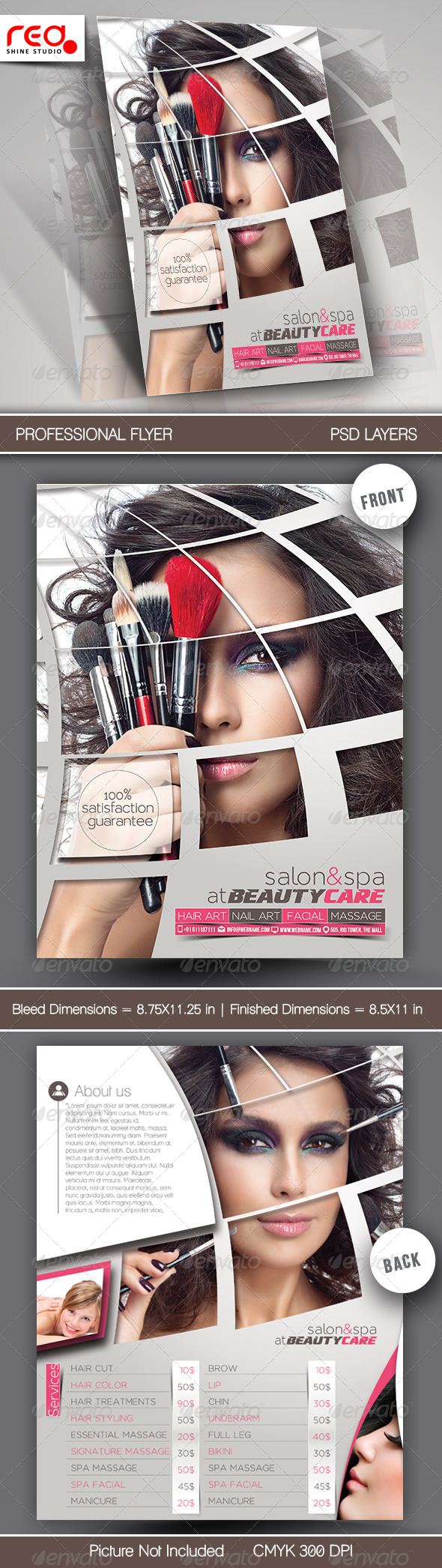 Beauty Care & Salon Flyer Template - Commerce Flyers