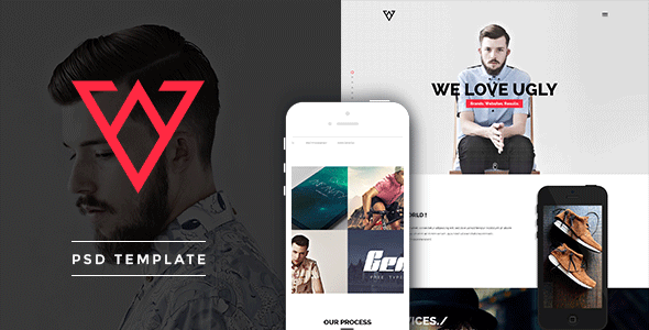 Viska – Creative One Page PSD Template