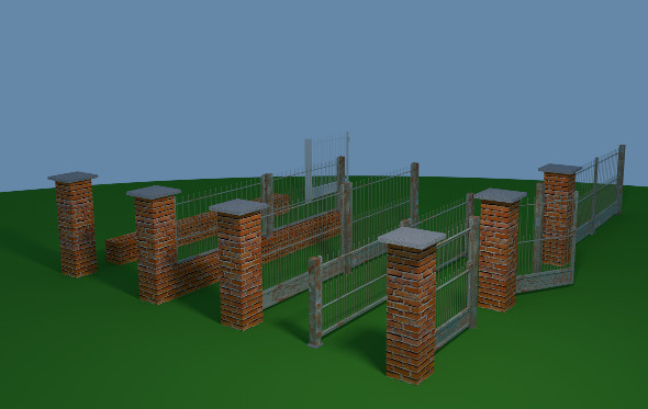 Fence Set - 3DOcean Item for Sale