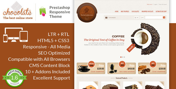 Chocolate - Prestashop Responsive Theme