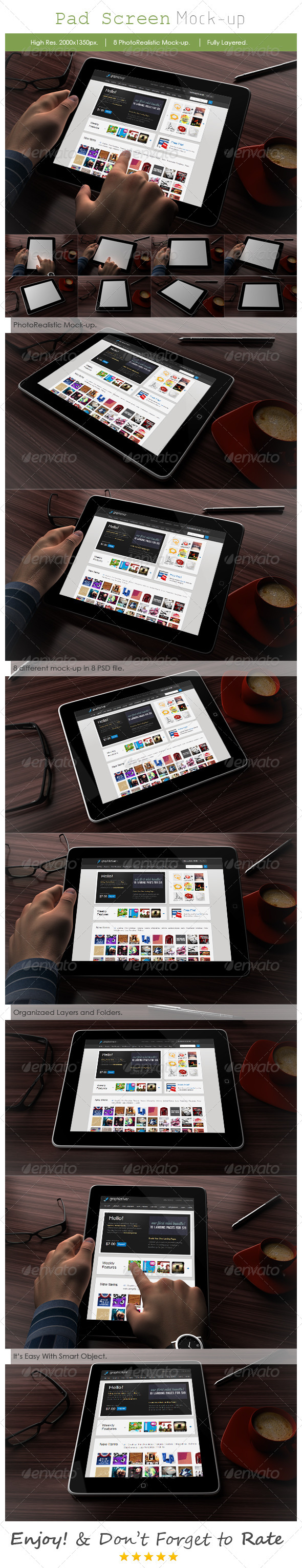 Tablet Mockup Design - Mobile Displays