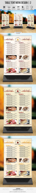 Table Tent Menu Design | 2 - Food Menus Print Templates