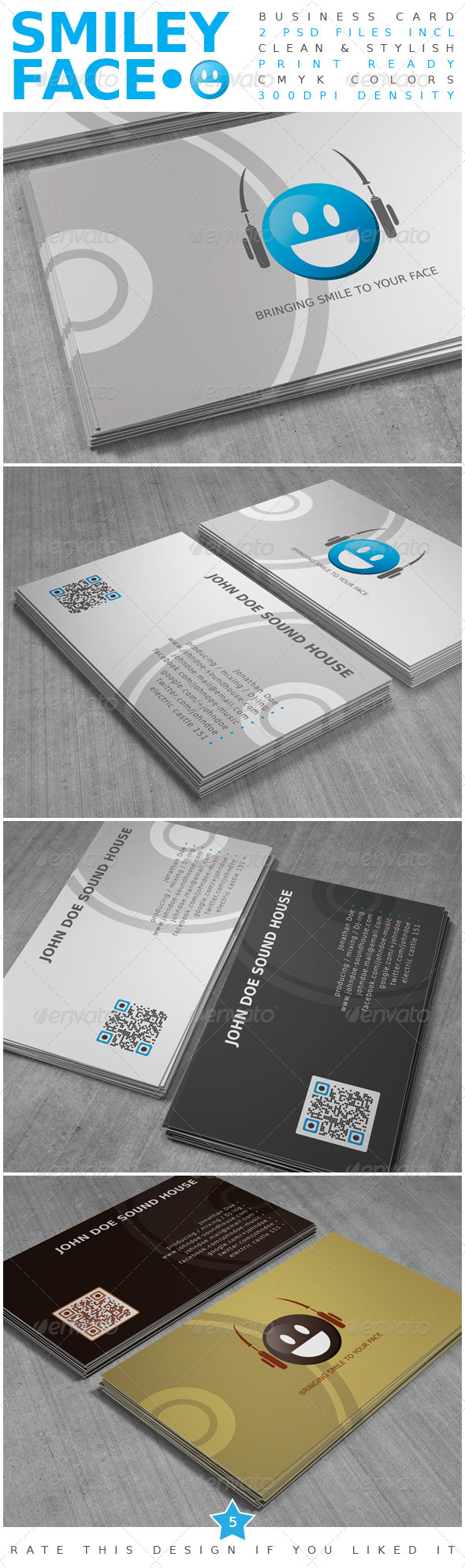 Smiley Face Business Card - Corporate Business Cards