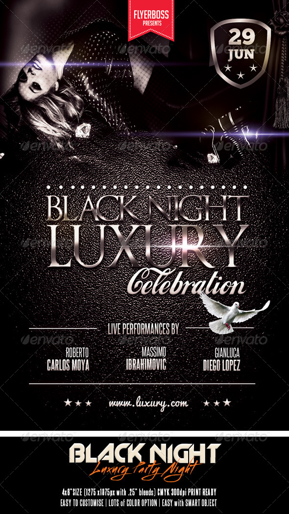 Black Night Luxury - Events Flyers