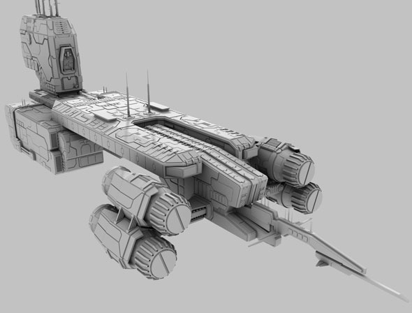 Terran Spaceship - 3DOcean Item for Sale