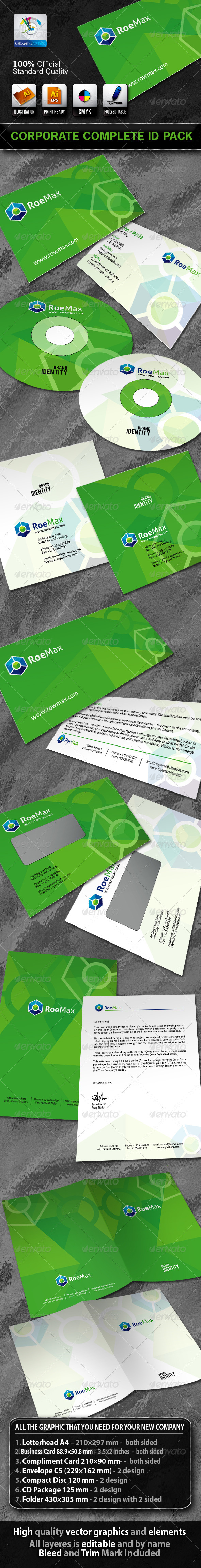 RoeMax Business Corporate ID Pack With Logo - Stationery Print Templates