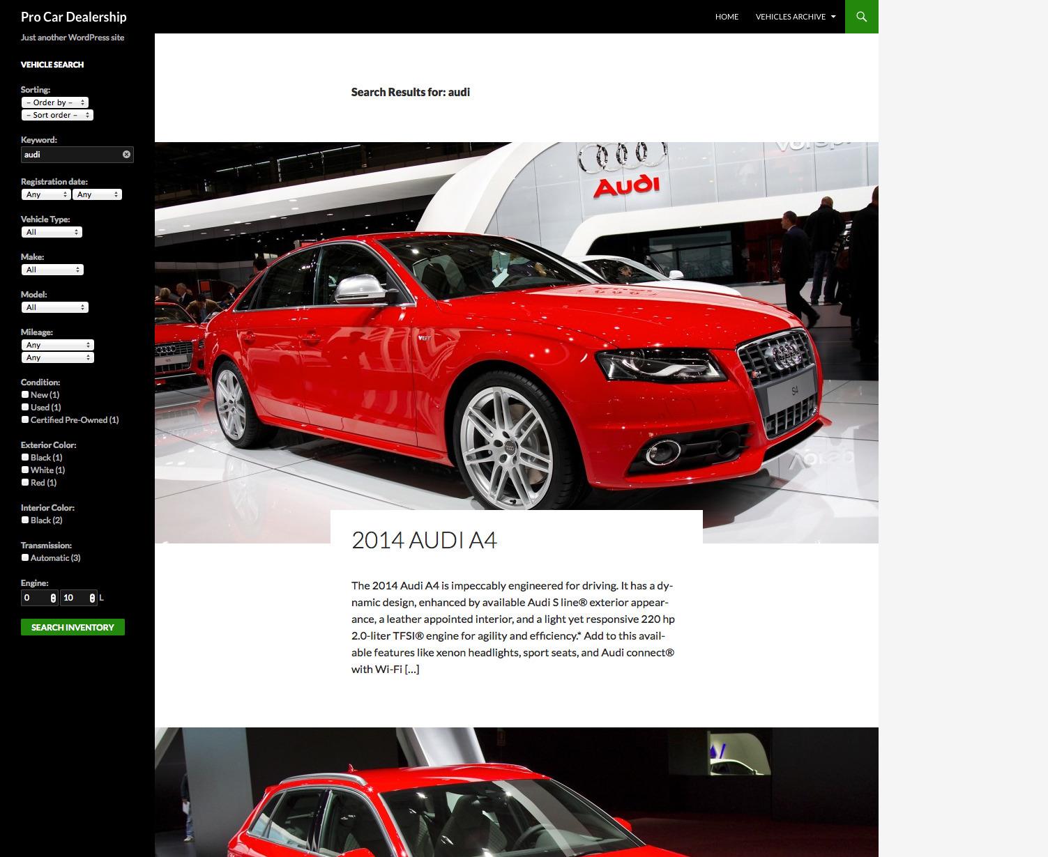 Pro Car Dealership - WordPress Plugin by ProgressionStudios | CodeCanyon