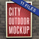 City Outdoor Poster Mockup Pack - 11 files  - GraphicRiver Item for Sale