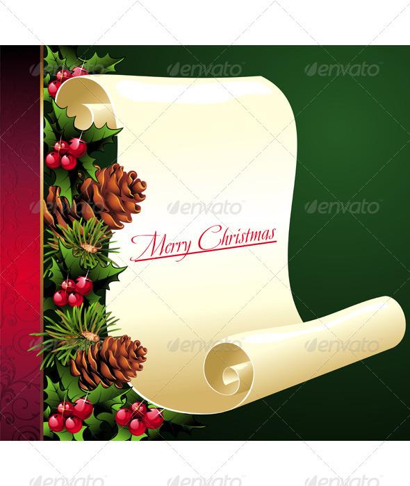 Christmas Scroll - Seasons/Holidays Conceptual
