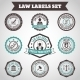 Law Labels Set - GraphicRiver Item for Sale
